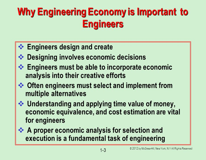 Why Engineering Economy is Important to Engineers