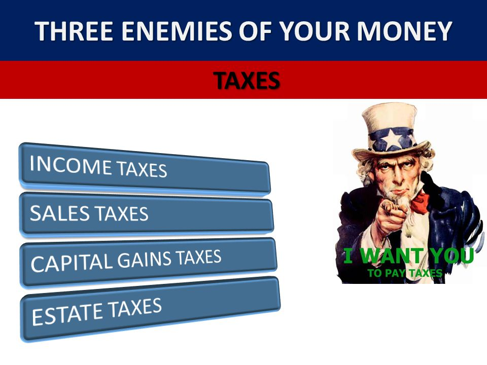 THREE ENEMIES OF YOUR MONEY
