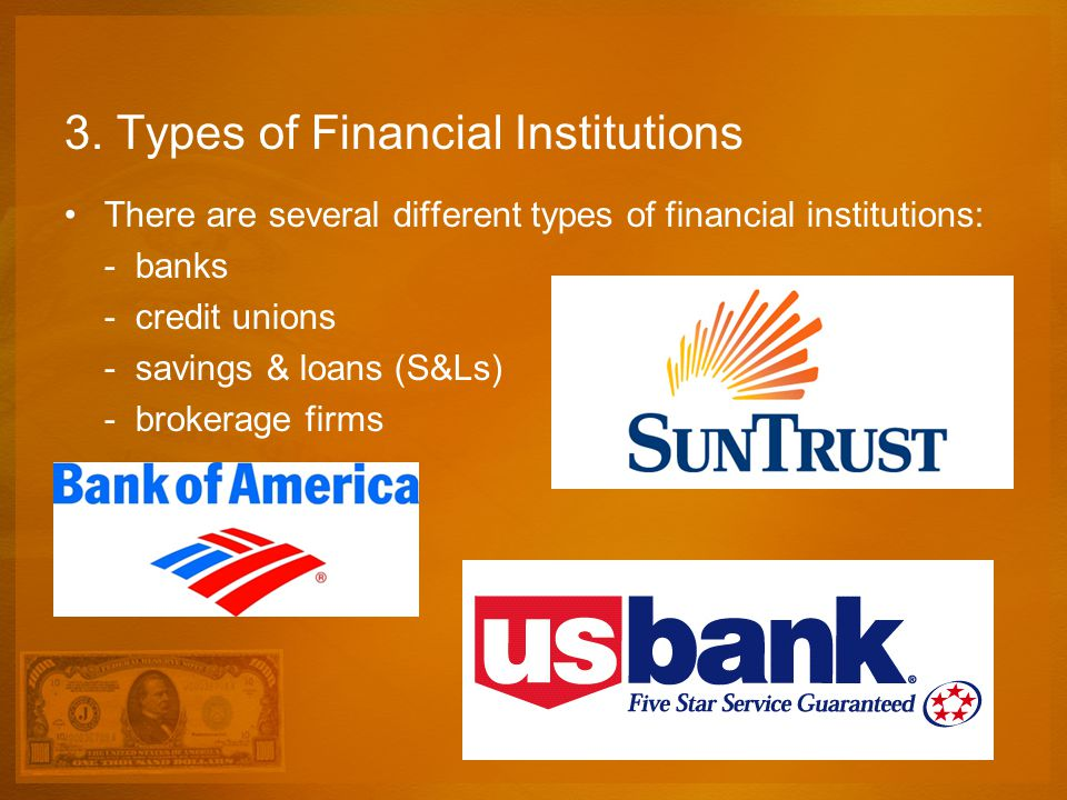 3. Types of Financial Institutions