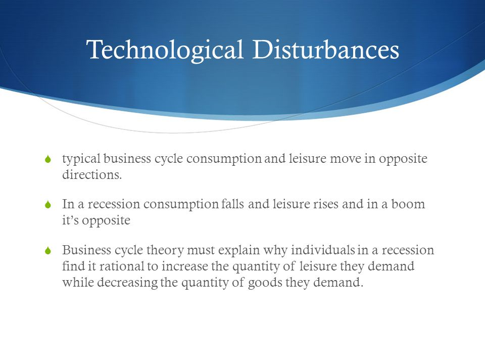 Technological Disturbances