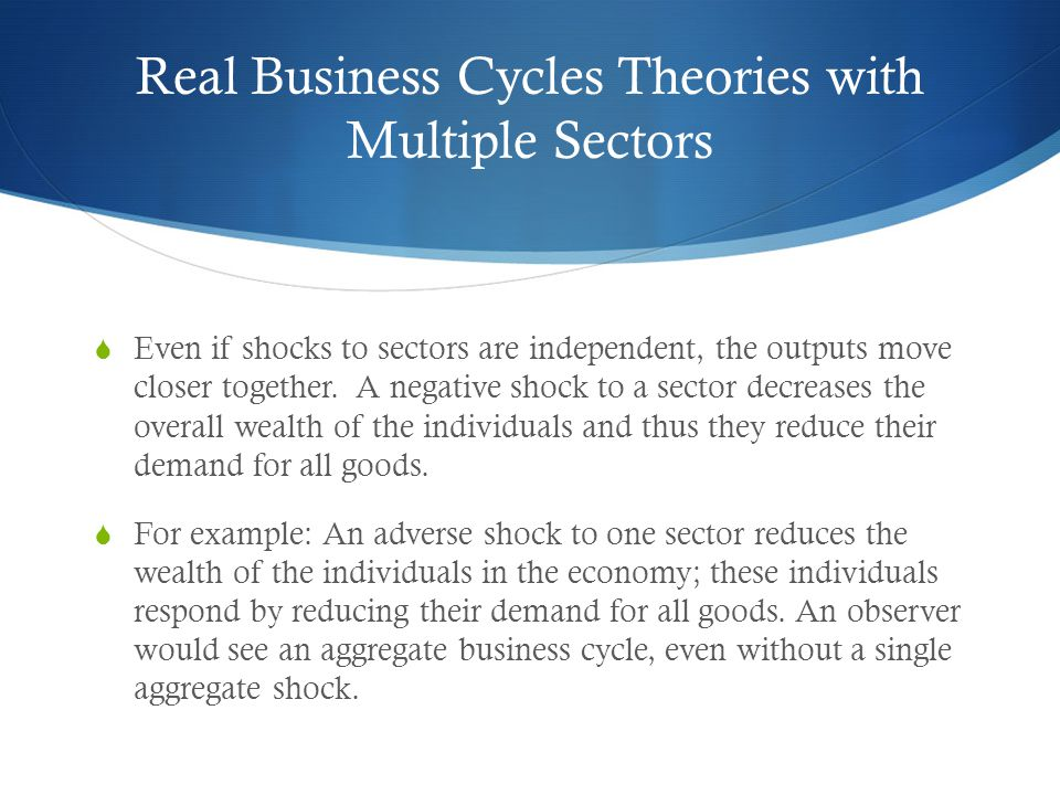 Real Business Cycles Theories with Multiple Sectors
