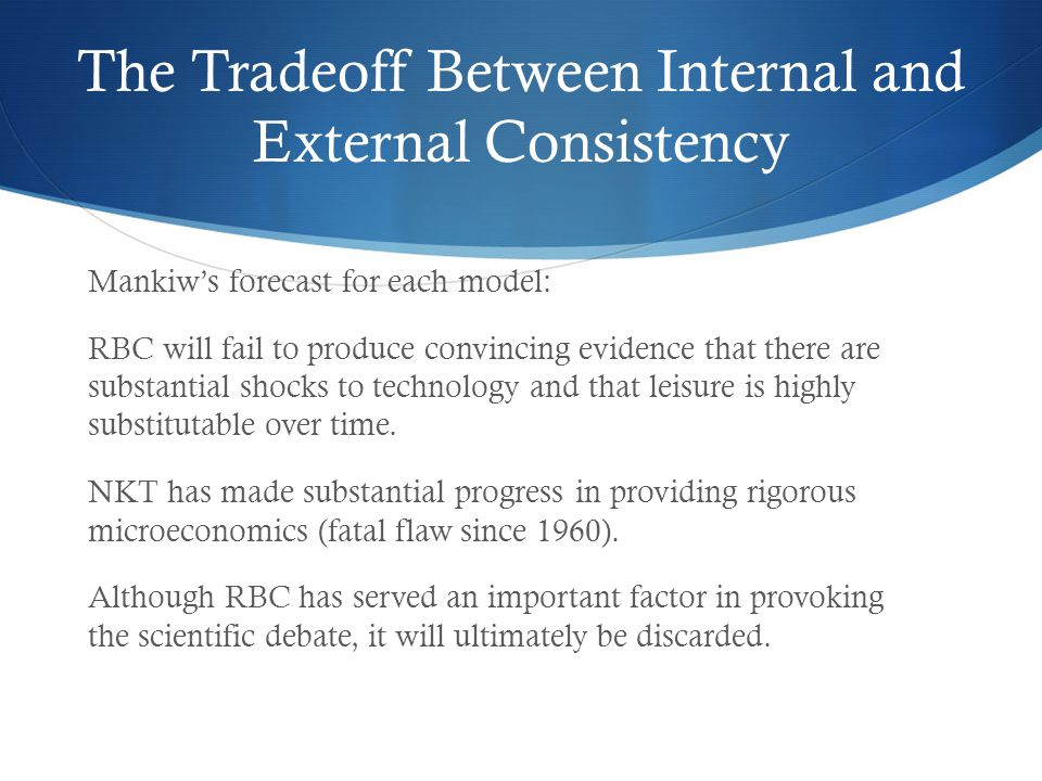 The Tradeoff Between Internal and External Consistency