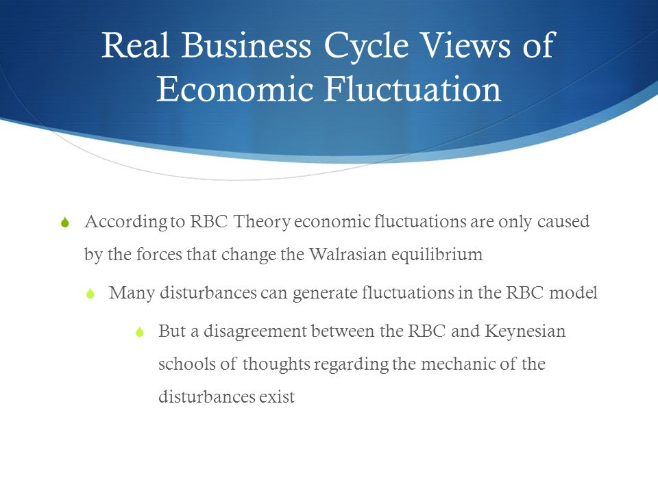 Real Business Cycle Views of Economic Fluctuation