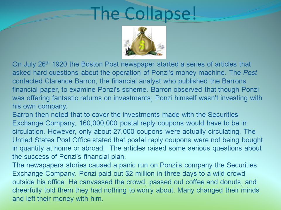 The Collapse!