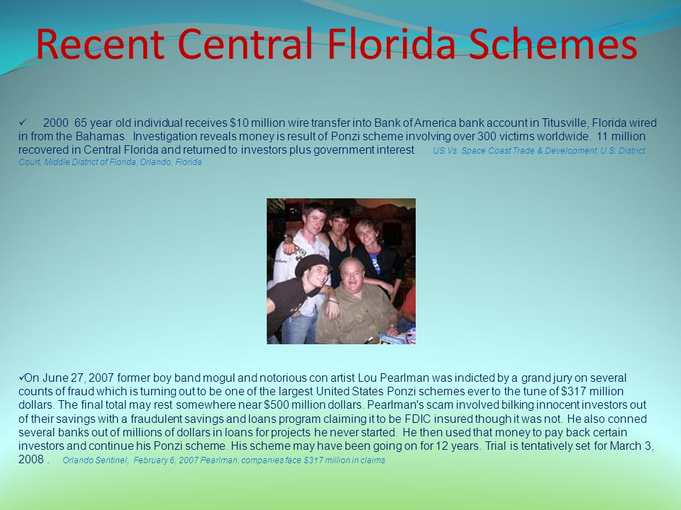 Recent Central Florida Schemes