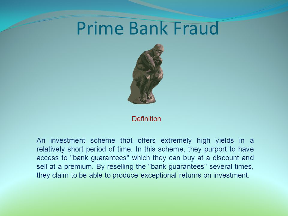 Prime Bank Fraud Definition