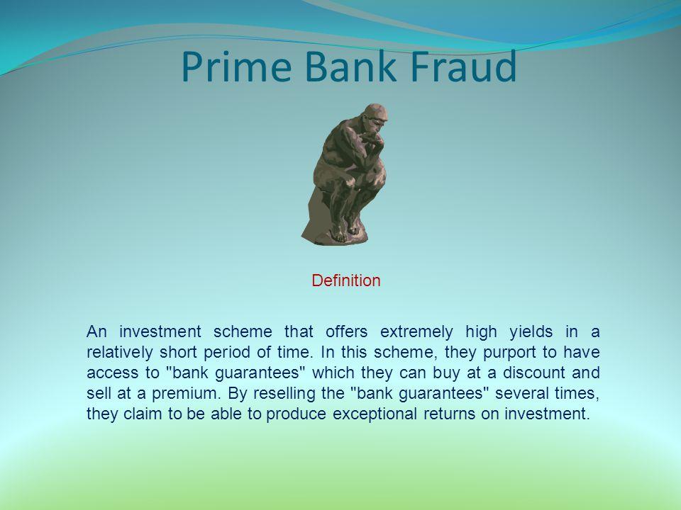 Prime Bank Fraud Definition