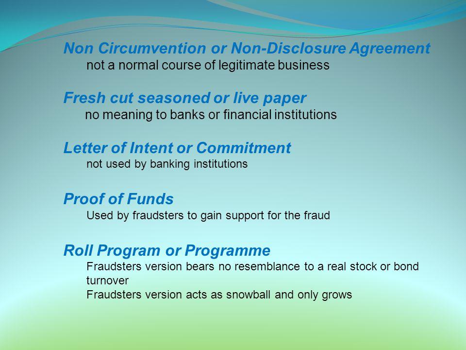 Non Circumvention or Non-Disclosure Agreement