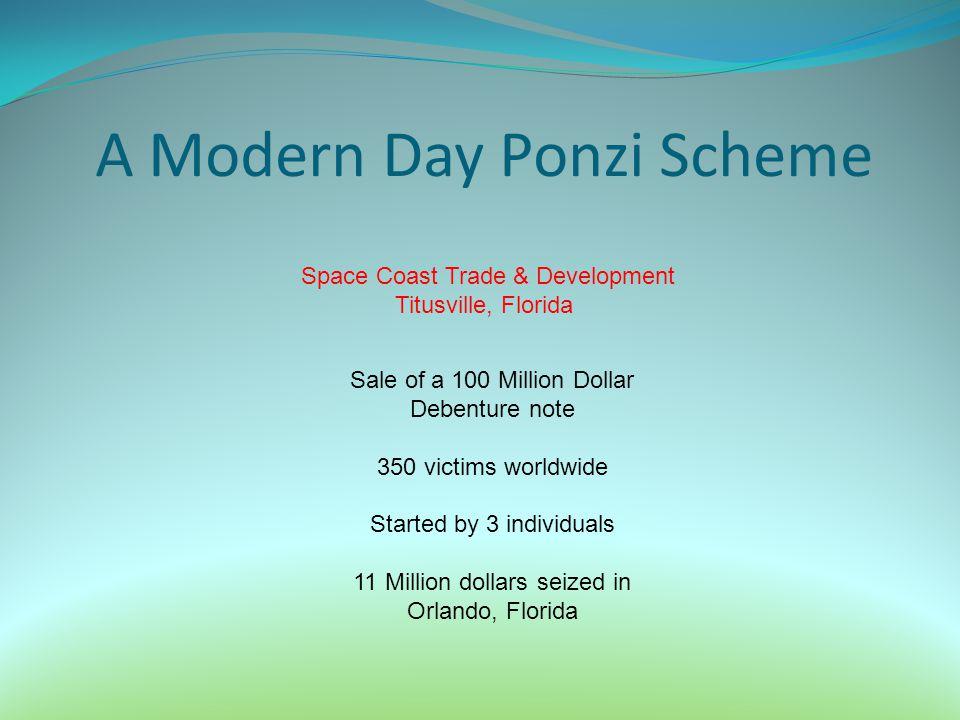 A Modern Day Ponzi Scheme