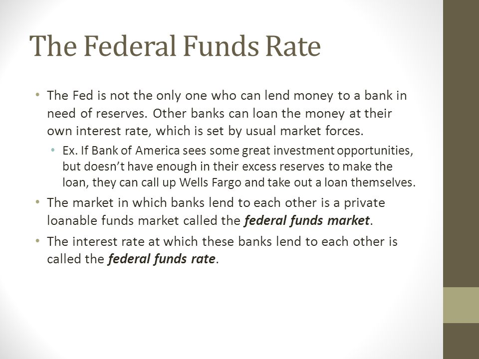 The Federal Funds Rate