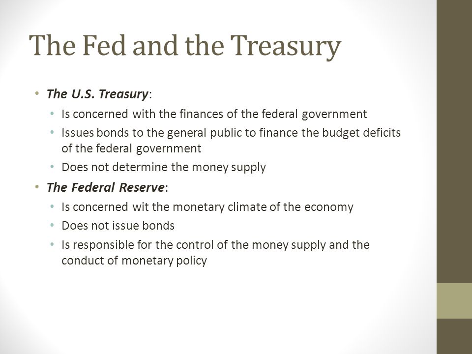 The Fed and the Treasury