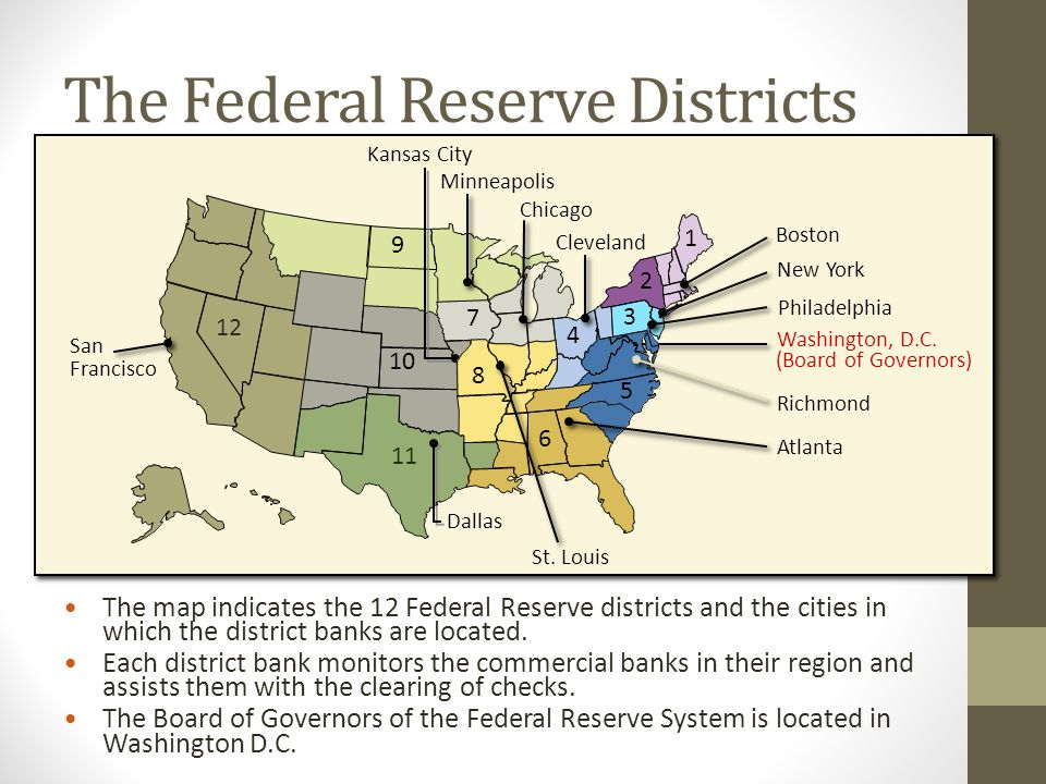 The Federal Reserve Districts