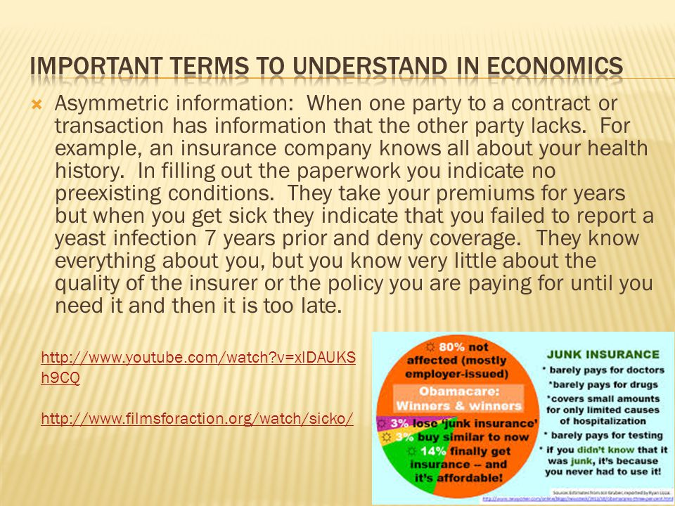 Important terms to understand in economics