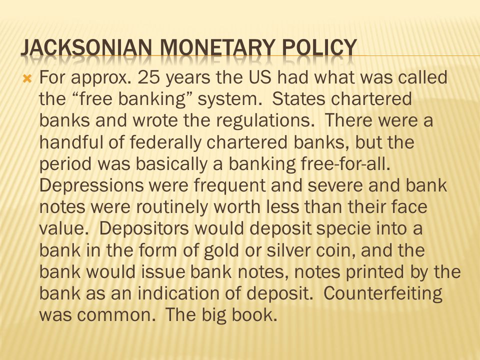Jacksonian monetary policy