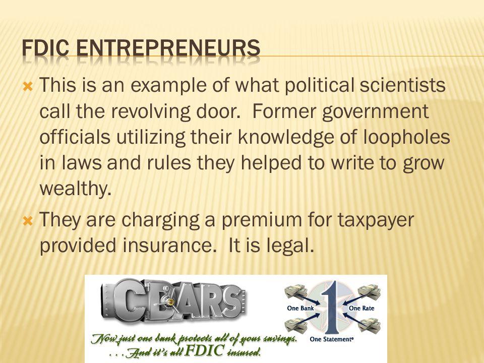 FDIC entrepreneurs