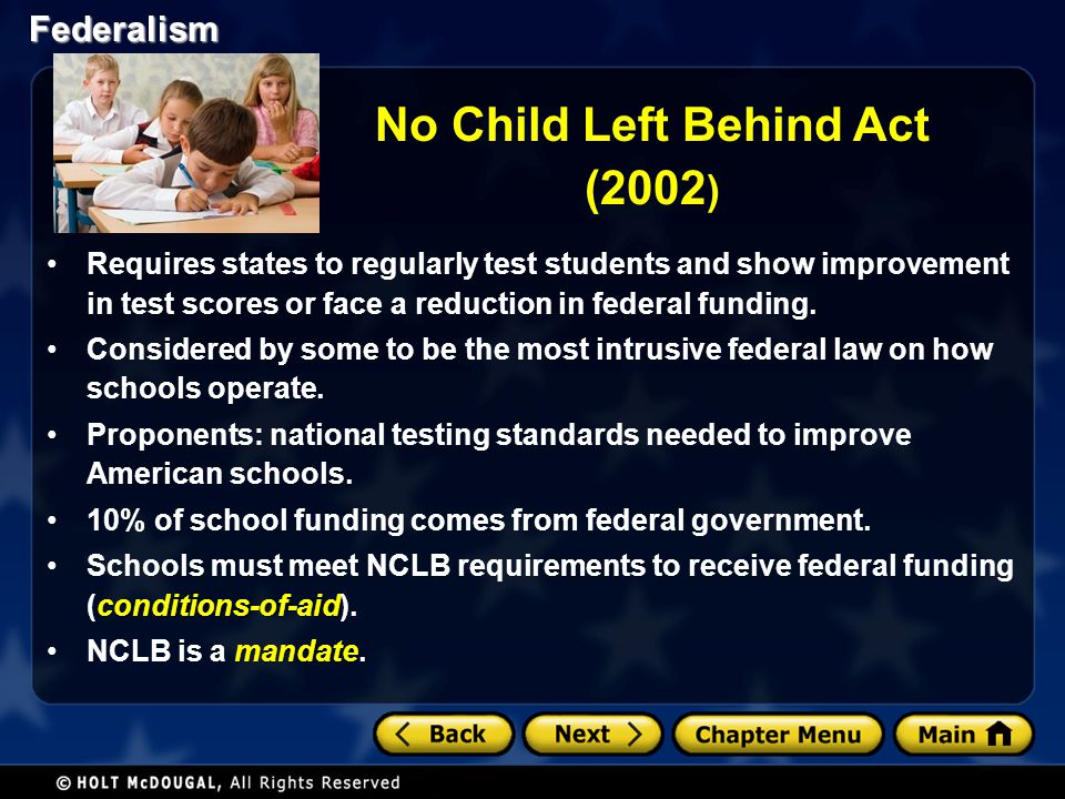 No Child Left Behind Act (2002)