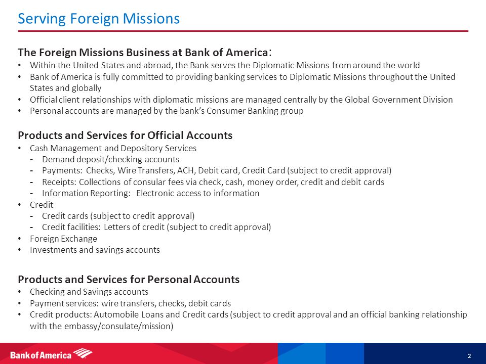 Serving Foreign Missions