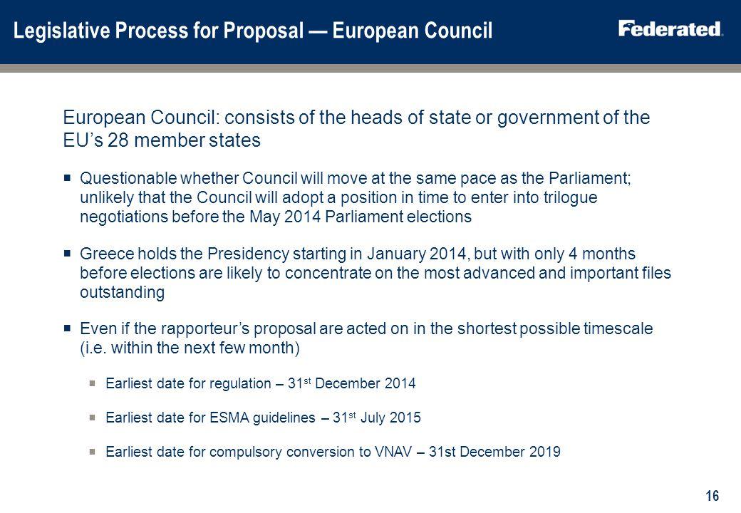 Main European Commission Proposals