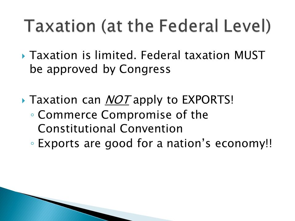 Taxation (at the Federal Level)