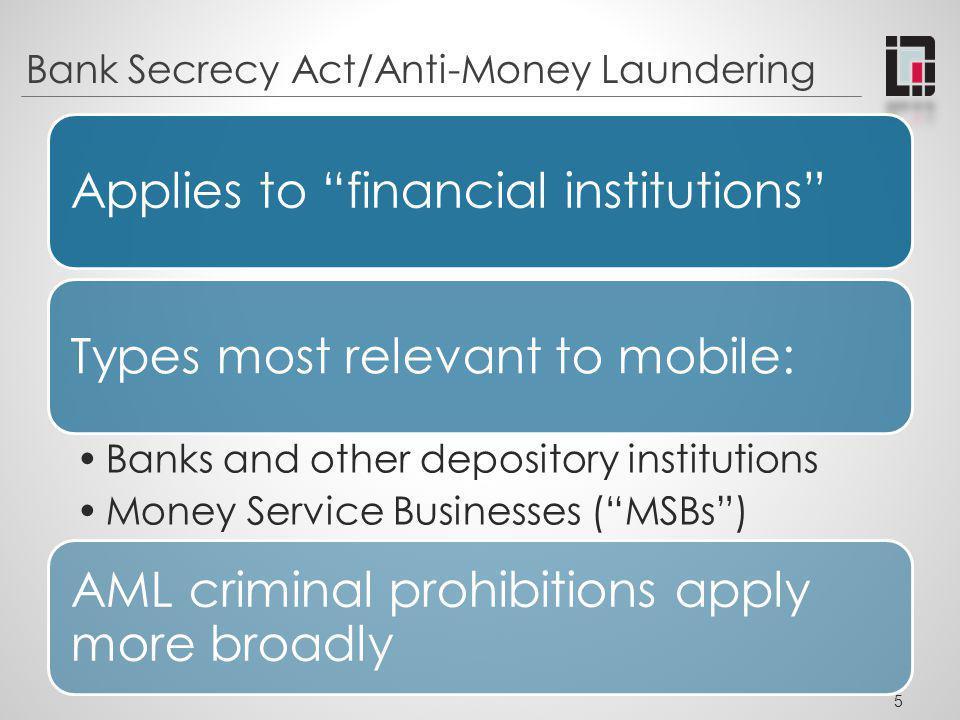 Bank Secrecy Act/Anti-Money Laundering