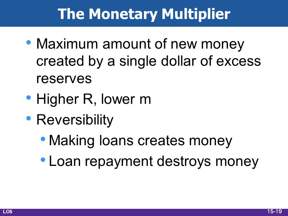 The Monetary Multiplier
