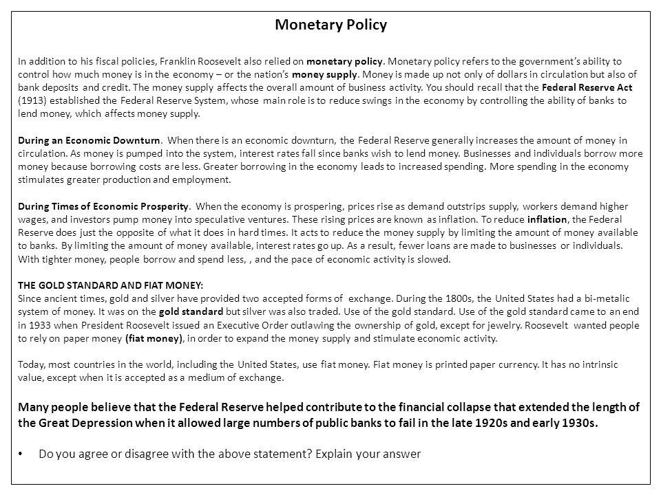 Monetary Policy