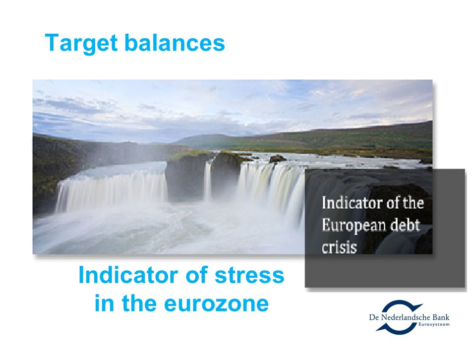Indicator of stress in the eurozone