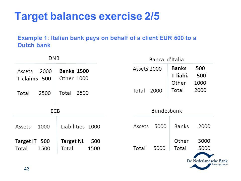 Target balances exercise 2/5