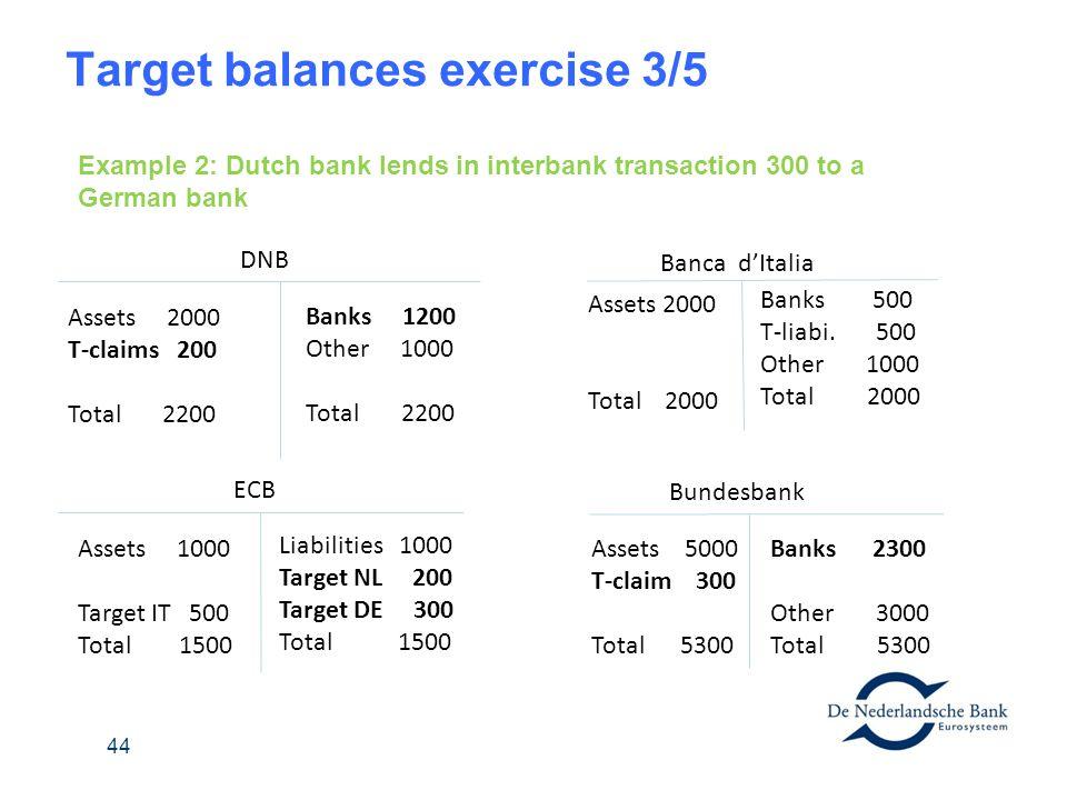 Target balances exercise 3/5