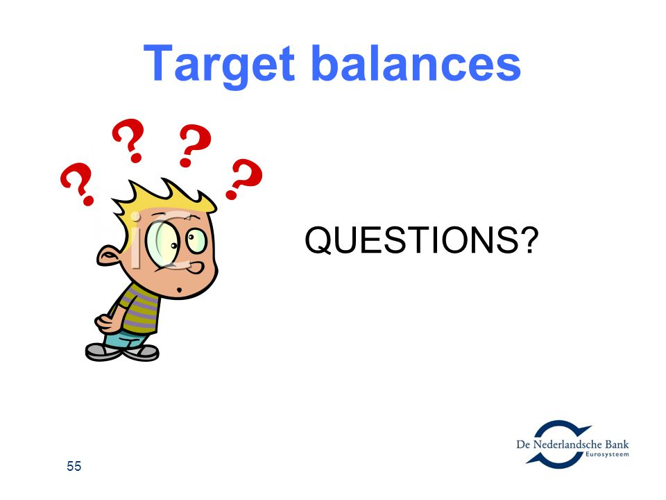 Target balances QUESTIONS