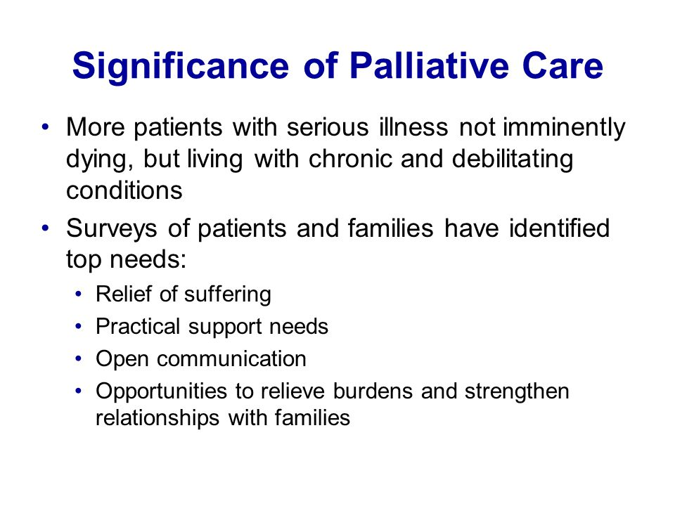 Significance of Palliative Care