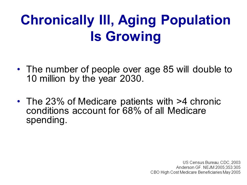 Chronically Ill, Aging Population Is Growing
