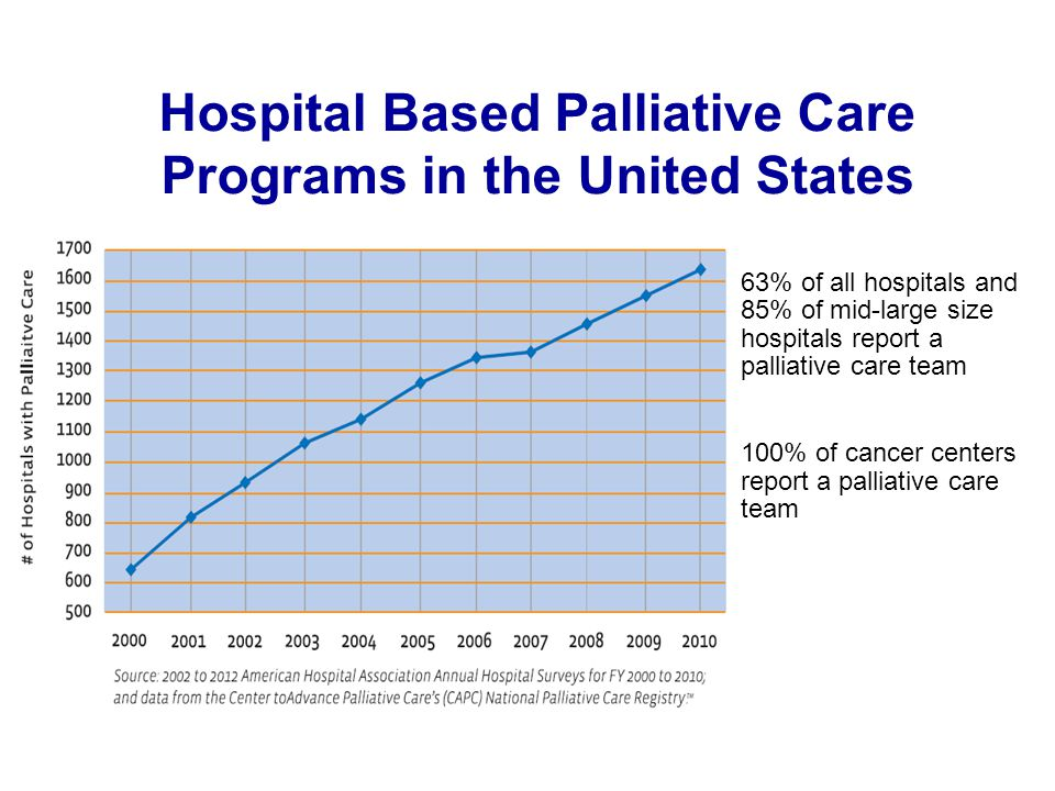 Hospital Based Palliative Care Programs in the United States