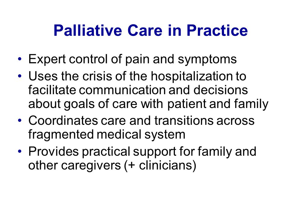 Palliative Care in Practice