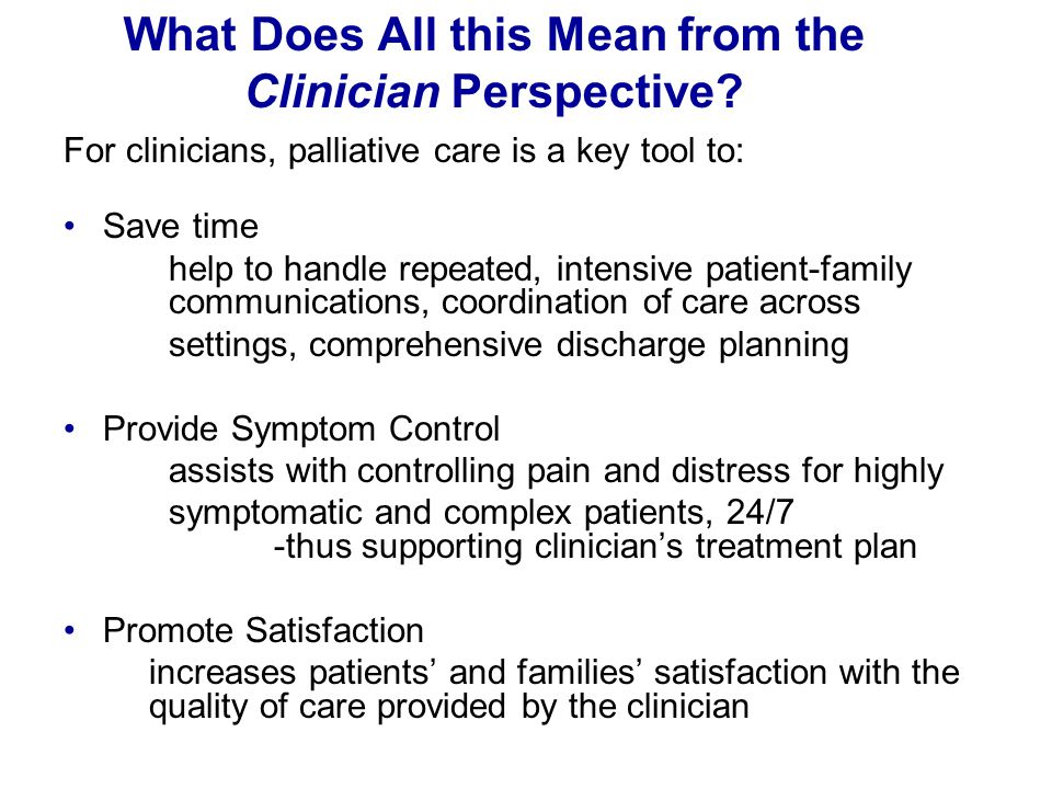 What Does All this Mean from the Clinician Perspective