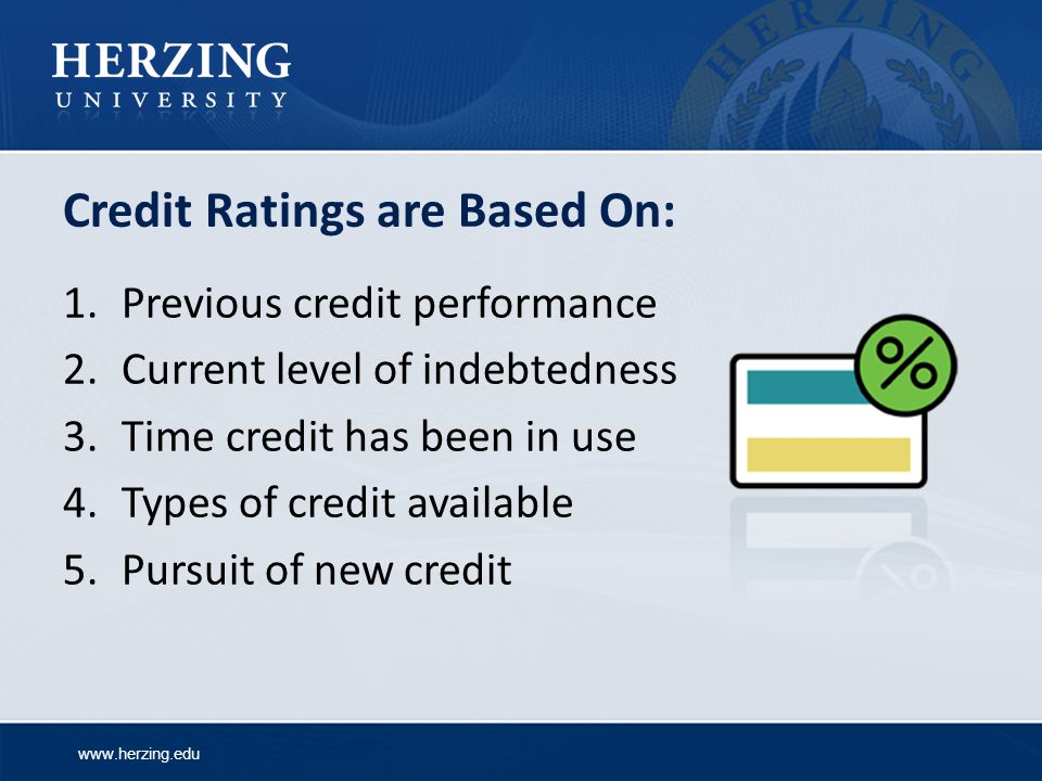 Credit Ratings are Based On: