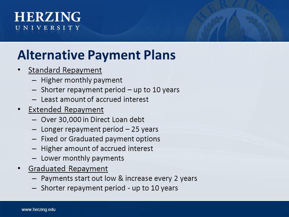 Alternative Payment Plans