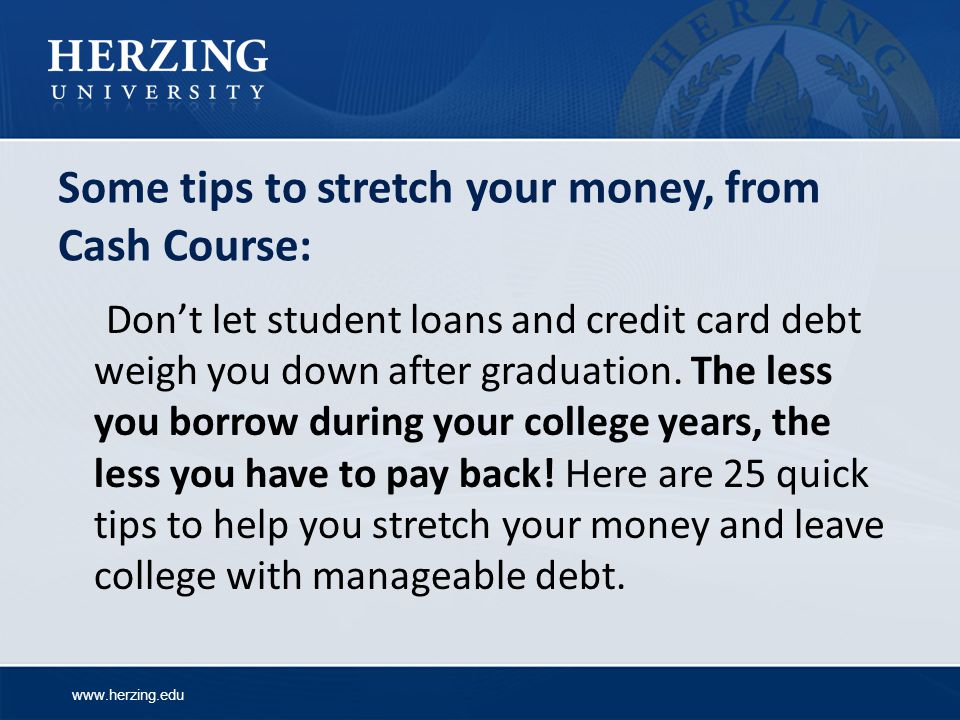 Some tips to stretch your money, from Cash Course: