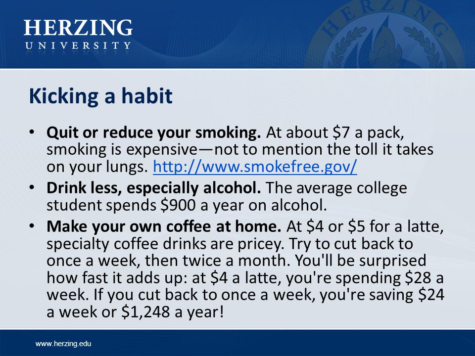 Kicking a habit