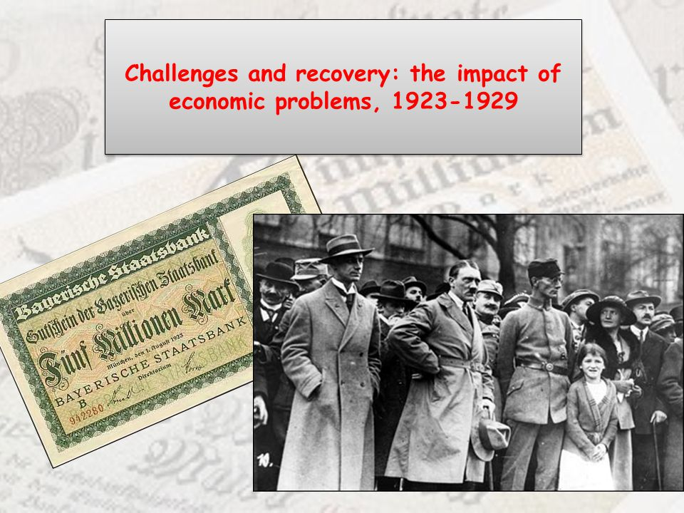 Challenges and recovery: the impact of economic problems, 1923-1929