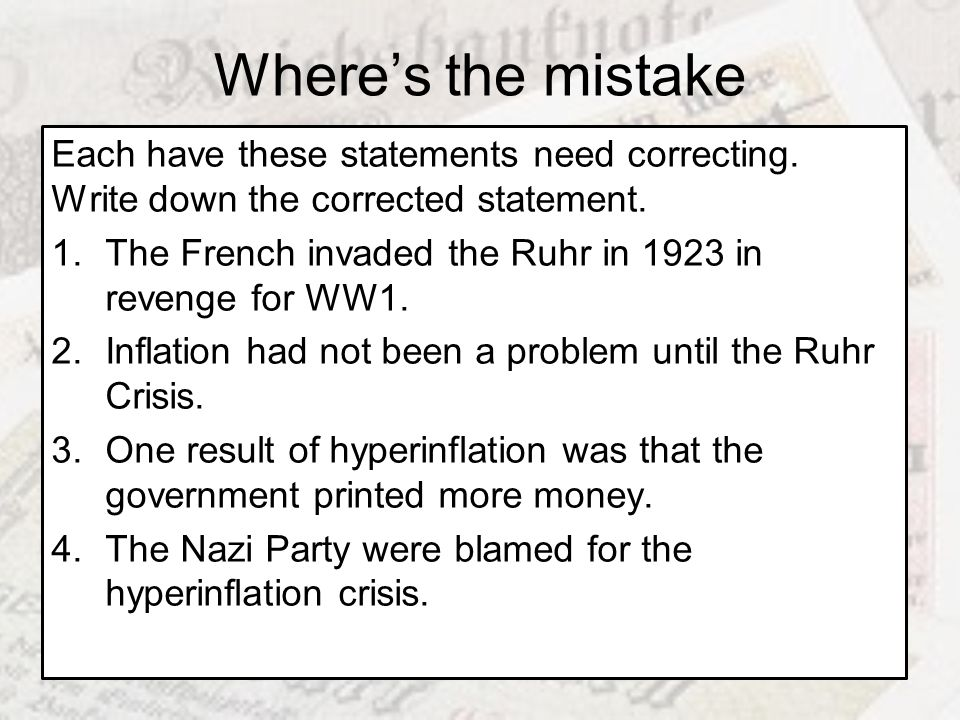 Where's the mistake Each have these statements need correcting. Write down the corrected statement.