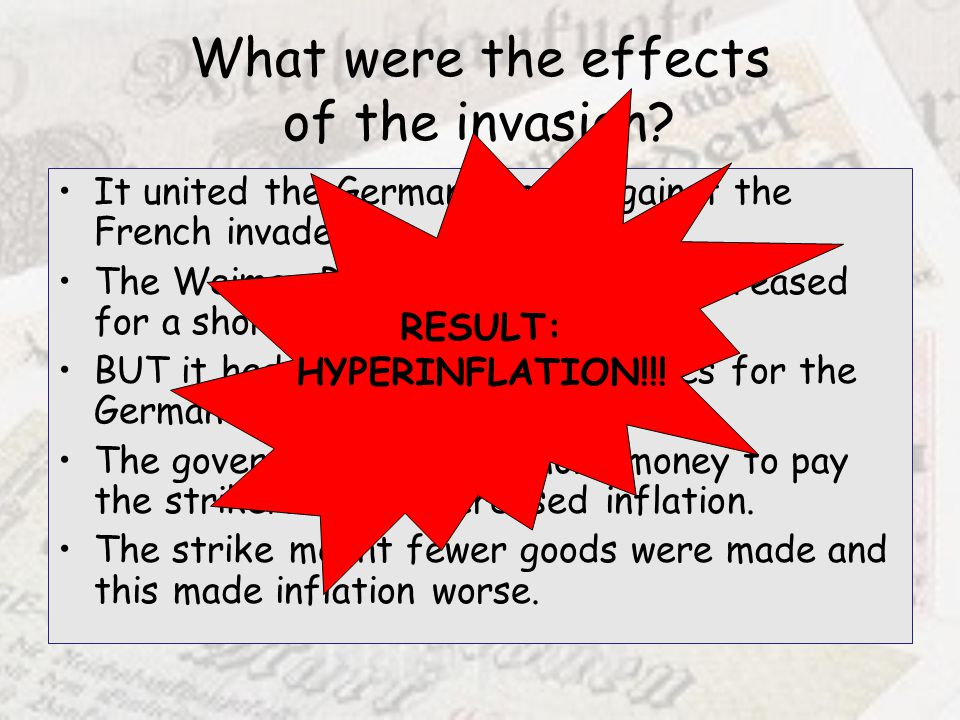 What were the effects of the invasion