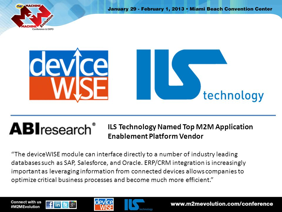 ILS Technology Named Top M2M Application Enablement Platform Vendor