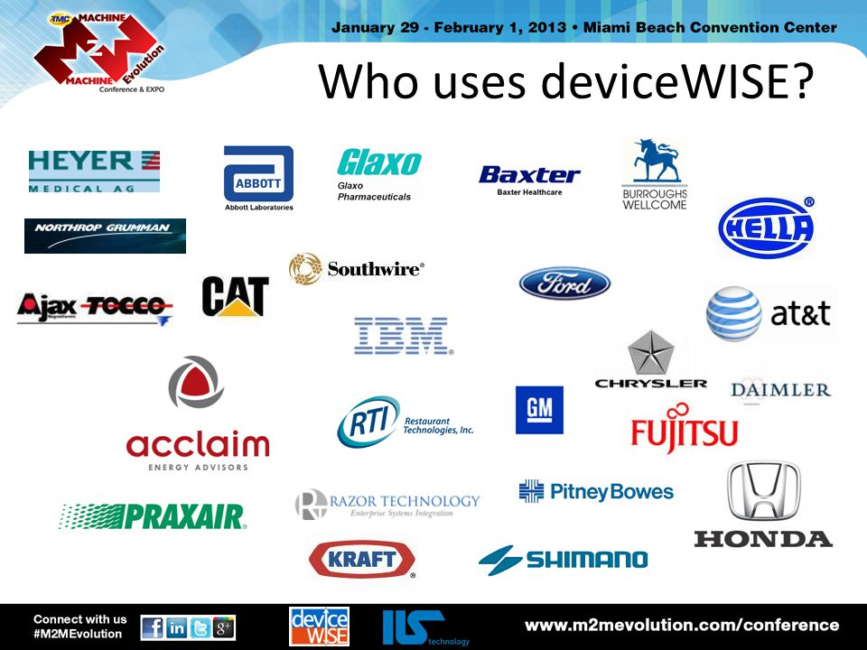 Who uses deviceWISE