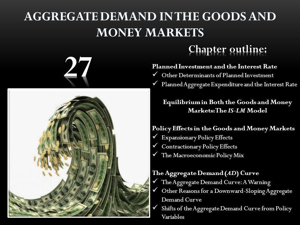Equilibrium in Both the Goods and Money Markets: The IS-LM Model