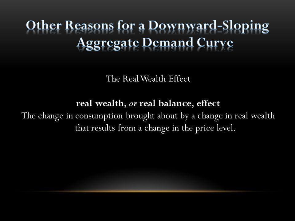 Other Reasons for a Downward-Sloping Aggregate Demand Curve