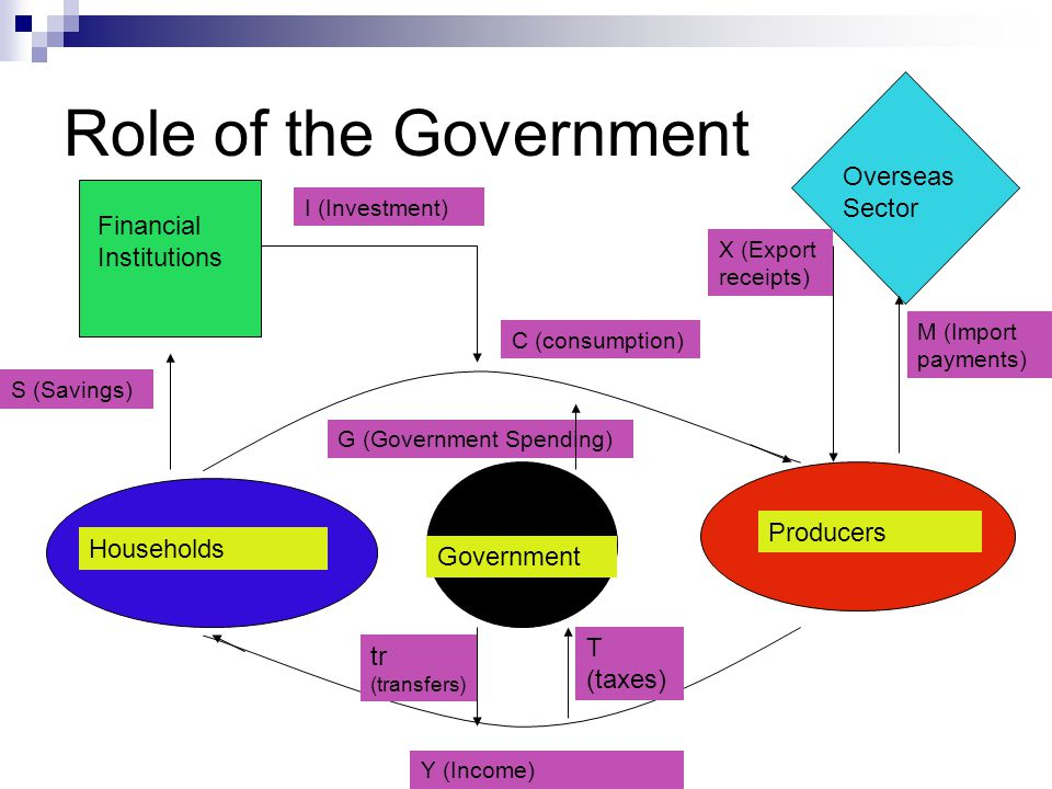 Role of the Government Overseas Sector d Financial Institutions f a g