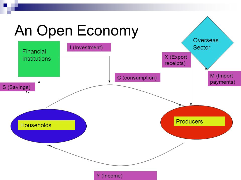 An Open Economy Overseas Sector d Financial Institutions f a g c