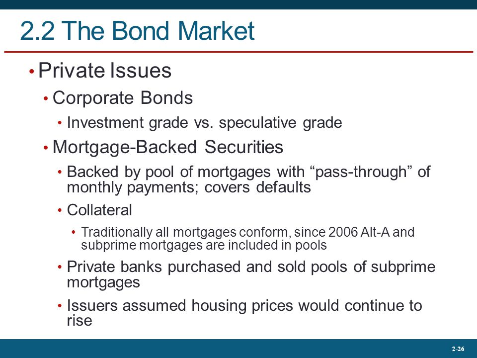 2.2 The Bond Market Private Issues Corporate Bonds
