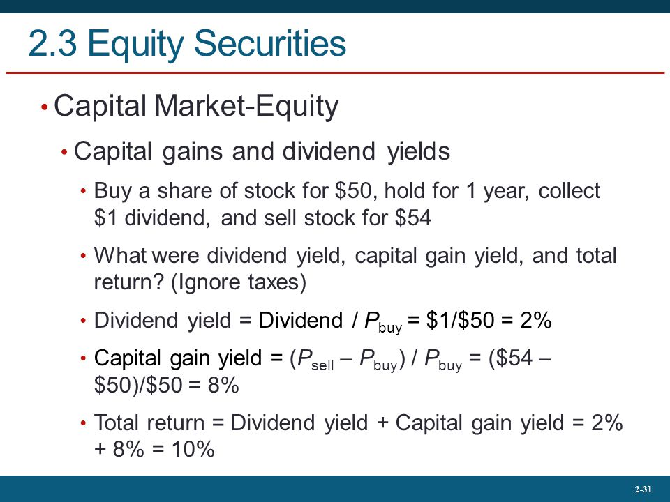 2.3 Equity Securities Capital Market-Equity